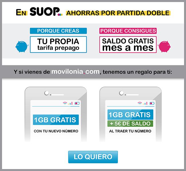 Promoción de Suop y Movilonia.com