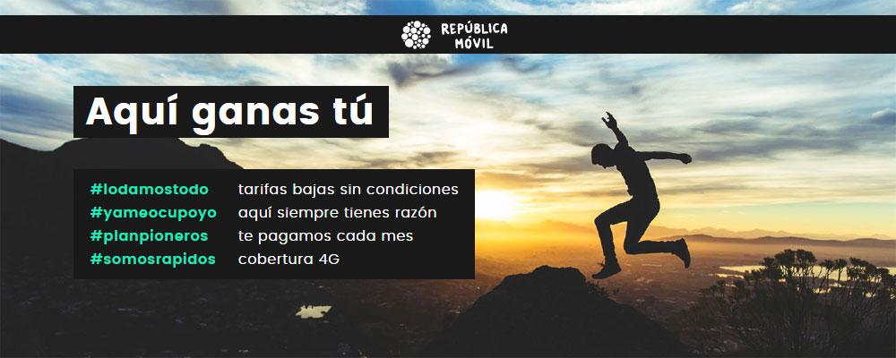 oferta exclusiva de República Móvil y Movilonia.com