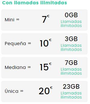 tarifas móviles de República Móvil para los que hablan mucho