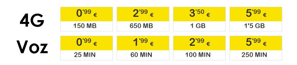 Elige tu propia tarifa móvil de prepago SUOP