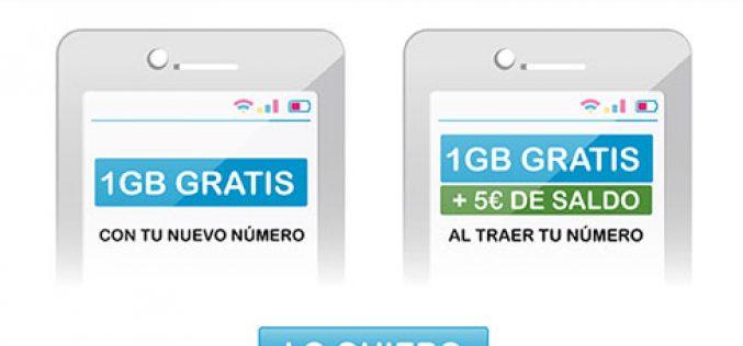 SUOP: 1GB + 5€ de saldo GRATIS