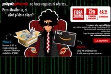 Fibra + móvil Inimitable de Pepephone + regalo de Movilonia.com