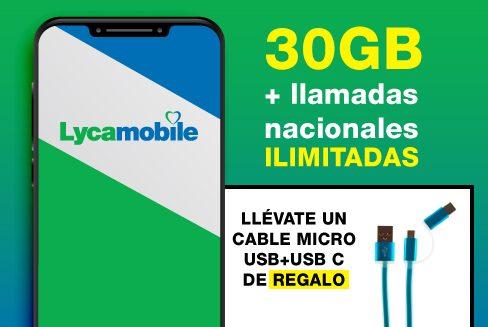 SIM Lycamobile con tarifa Ilimitado XL + REGALO