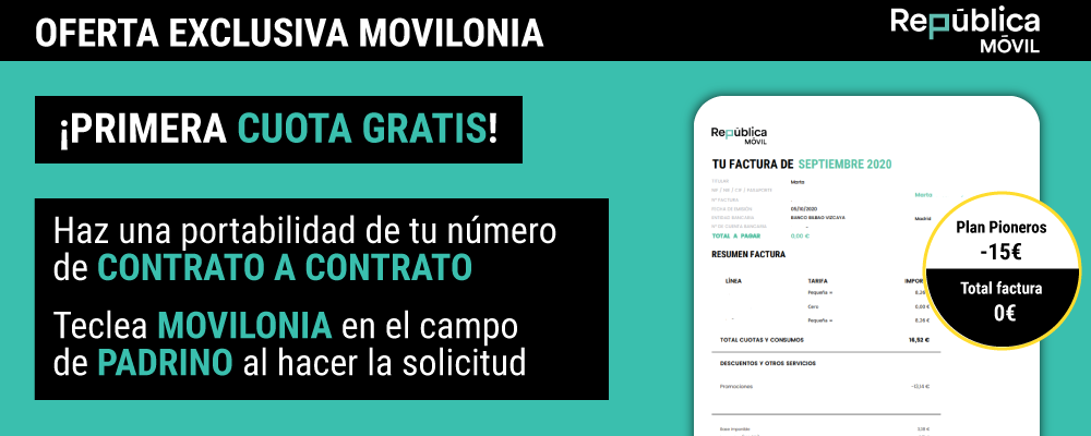 oferta exclusiva de República Móvil y Movilonia.com